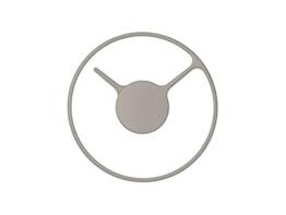 Stelton 852-2 Time Wanduhr, medium, Edelstahl mit metal überfläche, grau, 22 cm - 1