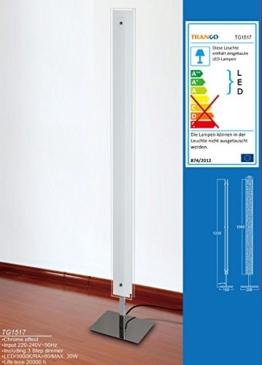 TG1517 LED Design Stehlampe Doppel-Glas inkl. 3 Stufen Dimmer - 1