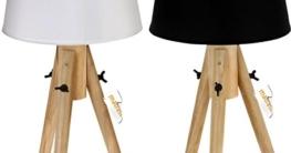 Tischlampe mit Stativ mit E27 Sockel - Stehlampe Dekolampe Zimmerlampe 50 cm weiß - 1