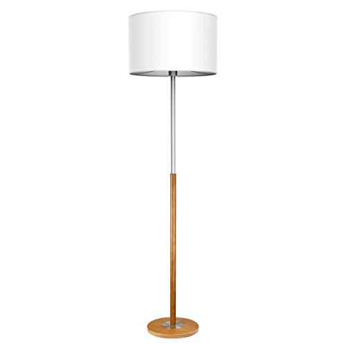 Tomons stehlampe aus metall klassisch einfache leuchte mit zylinder lampenschirm f r wohnzimmer - Lampenschirm schlafzimmer ...