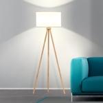 Stehlampe Holz grau kaufen