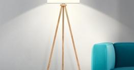 tomons Stehlampe Stativ aus Holz für das Wohnzimmer, Schlafzimmer und andere Zimmer, Skandinavischer Stil, 148 cm Höhe – FL1002 - 2