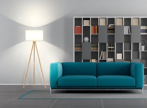 tomons stehlampe stativ aus holz f r das wohnzimmer schlafzimmer und andere zimmer. Black Bedroom Furniture Sets. Home Design Ideas
