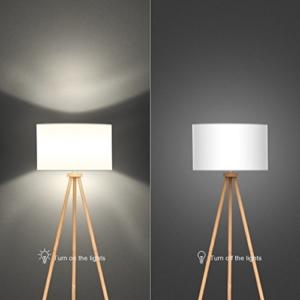 tomons Stehlampe Stativ aus Holz für das Wohnzimmer, Schlafzimmer und andere Zimmer, Skandinavischer Stil, 148 cm Höhe – FL1002 - 5