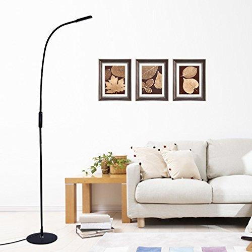 tonffi 9w 500lm schwanenhals led stehlampe mit fernbedienung dimmbare touch schalten 3000 6000k. Black Bedroom Furniture Sets. Home Design Ideas