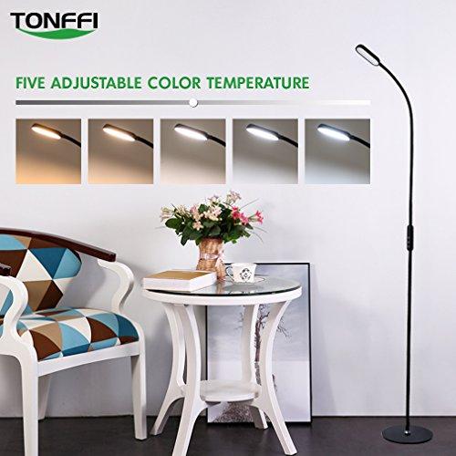 tonffi stehlampe led dimmbar 9w mit fernbedienung leselampe touch schalter 720lm. Black Bedroom Furniture Sets. Home Design Ideas