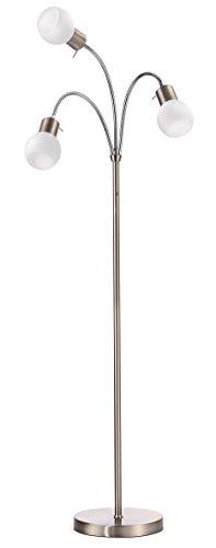 Trango 3-flg. LED Stehleuchte Stehlampe - 12.0 Watt - 3x 350 Lumen Lichtleistung, 3 Stufen dimmbar - schwenkbar & drehbar TG1518A - 1