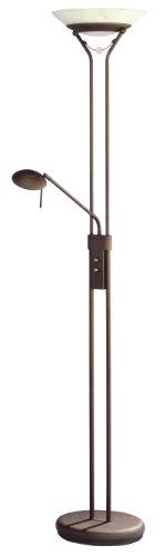 Trio Leuchten 4344021-24 Halogen-Fluter 1xR7S 230W mit Leseleuchte 28W G9, einzeln dimmbar, Höhe: 180cm, rostfarbig - 1