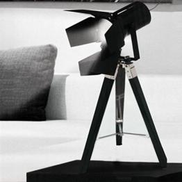 Tripod Stativleuchte mit Scheinwerfer E27 H65cm Schwarz von Grundig Dreibein Stehlampe Stehleuchte Studioleuchte Studiolampe Stativlampe - 1