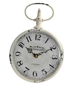 Uhr Wanduhr Küchenuhr klassisches Design Metall und Glas rund Weiß IT (Vintage) - 1