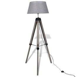 vidaXL Stativ-Stehlampe Design Stativlampe Leselampe Stehlampe Holz Landhausstil - 1