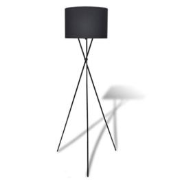 vidaXL Stehlampe Stehleuchte Wohnzimmerlampe Standleuchte Lampenschirm Schwarz - 1