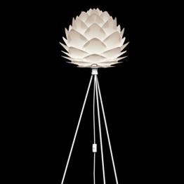 VITA Silvia Stehleuchte weiss für A++ bis E inkl. Tripod und LED A+ Gestell schwarz D 45 cm H 154 cm Lampe - 1