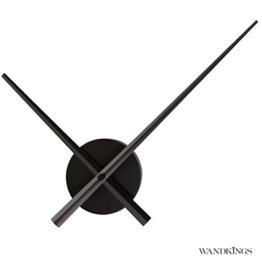 Wandkings Wanduhr SOLO XL mit Uhrwerk & extra großen Uhrzeigern - Farbe: SCHWARZ - 1