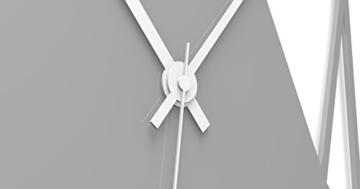 """Wandkings Wanduhr """"Triangle"""" aus Acrylglas, in 11 Farben erhältlich (Farbe: Uhr = Grau glänzend; Zeiger = Weiß) - 3"""