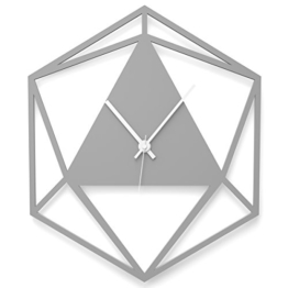 """Wandkings Wanduhr """"Triangle"""" aus Acrylglas, in 11 Farben erhältlich (Farbe: Uhr = Grau glänzend; Zeiger = Weiß) - 1"""