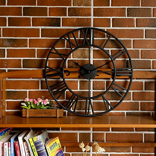 wanduhr 3d likeluk 18zoll 47cm europ isch quartz lautlos. Black Bedroom Furniture Sets. Home Design Ideas