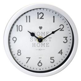 Wanduhr ''Home Sweet Home'' | Modern | Klein | Design | Uhren | für Wohnzimmer | Dekoration | Schmücken | Küchenuhr | Preis am Stiel® - 1