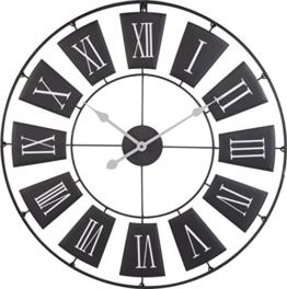 Wanduhr Römisches Design Schwarz 70 cm H320 - 1