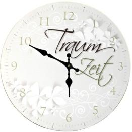 """Wanduhr Uhr Vintage Shabby Chic Retro mit Spruch: """"Traum Zeit"""" - 1"""