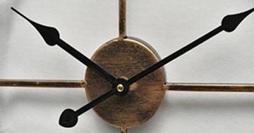 Wanduhr Vintage, Teckpeak 19.5 Zoll Lautlos Europäische Wanduhren Wohnzimmer Küchenuhr - 6