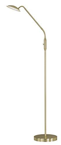 WOFI Standleuchte, Metall, Integriert, 12 W, Messing Matt, 23 x 23 x 135 cm - 1