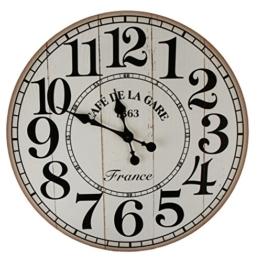 XXL Wanduhr Uhr Ø 58 cm Shabby Vintage Motivuhr Küchenuhr (Cafeteria) - 1