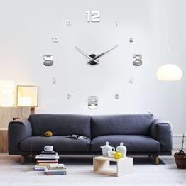 XXL3D Riesige 3D Wanduhr Vinyl DIY Ø 130cm Große XXL Spiegel Uhr V - 1
