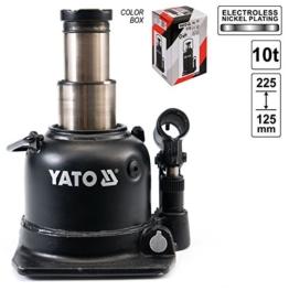 Yato YT-1713-Cric Hydraulischer Wagenheber, 10t in zwei Schritten, Low Profile - 1