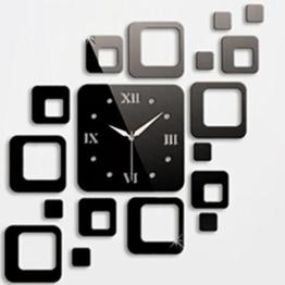 Yesiidor Wandaufkleber Wandtattoo Abnehmbare DIY Uhr Wand Aufkleber für Wohnzimmer - 1
