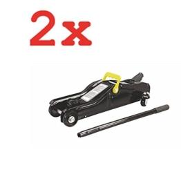 2x FLACH RANGIERWAGENHEBER 2,0 T HUBBEREICH 85-330 mm TROLLEY JACK - 1