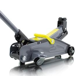 BITUXX® Hydraulischer Rangierwagenheber mit praktischen Transportkoffer 2T flach Wagenheber hydraulisch 2 Tonnen Hubhöhe von 13,5 cm bis 33,5 cm - 1