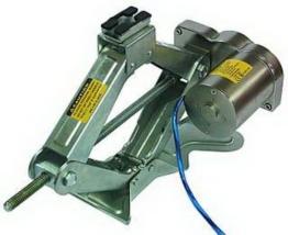 Elektrischer Scheren-Wagenheber, Hubhöhe 15-35cm, Tragkraft 2.000kg - 1