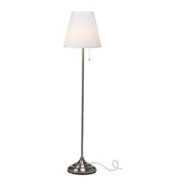 """IKEA Stehlampe """"Arstid"""" 155 cm hohe Stehleuchte - vernickelt - mit Stoffschirm - 1"""