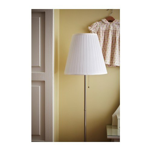 ikea stehlampe arstid 155 cm hohe stehleuchte vernickelt mit stoffschirm 2 redidoplanet. Black Bedroom Furniture Sets. Home Design Ideas