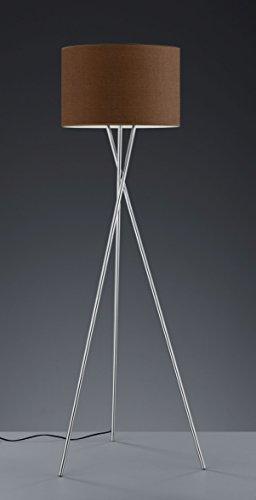 Khl LED Stehlampe Standleuchte Prag Stoffschirm Dreifuß braun 9W E27 KH40031014 - 1