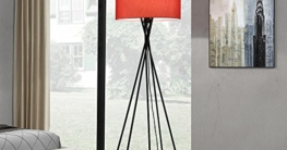 [lux.pro] Stehleuchte - Red Mikado - (1 x E27 Sockel)(155 cm x Ø 48 cm) Stehlampe Fußbodenlampe Zimmerlampe Wohnzimmerlampe - 2