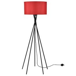 [lux.pro] Stehleuchte - Red Mikado - (1 x E27 Sockel)(155 cm x Ø 48 cm) Stehlampe Fußbodenlampe Zimmerlampe Wohnzimmerlampe - 1