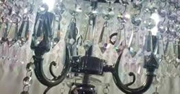 MMM- Stehlampe, Europäischen Luxuriösen Wohnzimmer Schlafzimmer Studie Romantische Kugel Kristall Anhänger Nachttischlampe Lampe Körper Kristall Lampenschirm Stehlampe - 5
