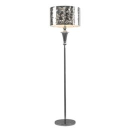 MMM- Stehlampe, europäischen warmen Wohnzimmer Schlafzimmer Studie romantische Schmetterling Muster Nachttischlampe Lampe Körper Edelstahl Lampenschirm Stehlampe - 1