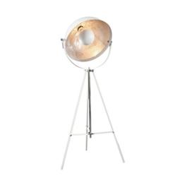 Moderne Design Stehlampe STUDIO weiss silber Lampe Blattsilber - 1