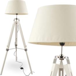 MOJO® Stehleuchte Tripod Höhenverstellbar Design Lampe Weiss mq-l34 - 1