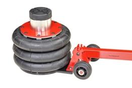 Pro-Lift-Montagetechnik 2t Wagenheber pneumatisch, 3 Luftkissen, 200mm-560mm mit Rangierstange, T1813, 01698 - 1