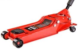 Pro-Lift-Montagetechnik 3t Rangierwagenheber, superflach, 98mm-535mm, rot 83508T, 01415 - 1