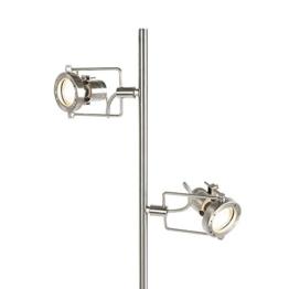 QAZQA Industrie/Industrial/Modern/Stehleuchte mit Leseleuchte/Stehlampe/Standleuchte/Lampe/Leuchte Suplux 2-flammig Stahl/Silber/nickel matt/Innenbeleuchtung/Wohnzimmer/Schlafz - 1