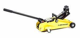 Rangierwagenheber, hydraulisch, Hebelstange,Griff, 4 Rollen, max. Hebelast 2 Tonnen, gelb-schwarz - 1