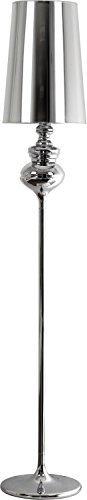Stehleuchte Design / Silber / 1x E27 max 60W 230V / Metall & Stoff / Wohnzimmer Stehlampe klassisch / Beleuchtung innen / Arbeitszimmer Schlafzimmer - 1