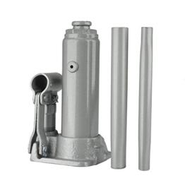 Unitec Hydraulischer Wagenheber 2to. 181-345mm silber Stockheber Stempelheber - 1