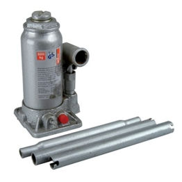 Unitec Hydraulischer Wagenheber 5to. 216-413mm silber Stockheber Stempelheber - 1