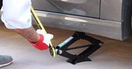Emergency [Set Notfall] Wagenheber in Fall von Lochung für Auto und Mittel Leichte 1000kg mit Handschuhe aus Leder Robust Stretch Tight. Wagenheber und Handschuhe - 6